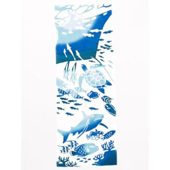 ハンカチ - チャイハネ 【カヤ】注染手ぬぐい 水族館