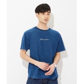 Champion リバースウィーブインディゴTシャツ メンズ 中濃色