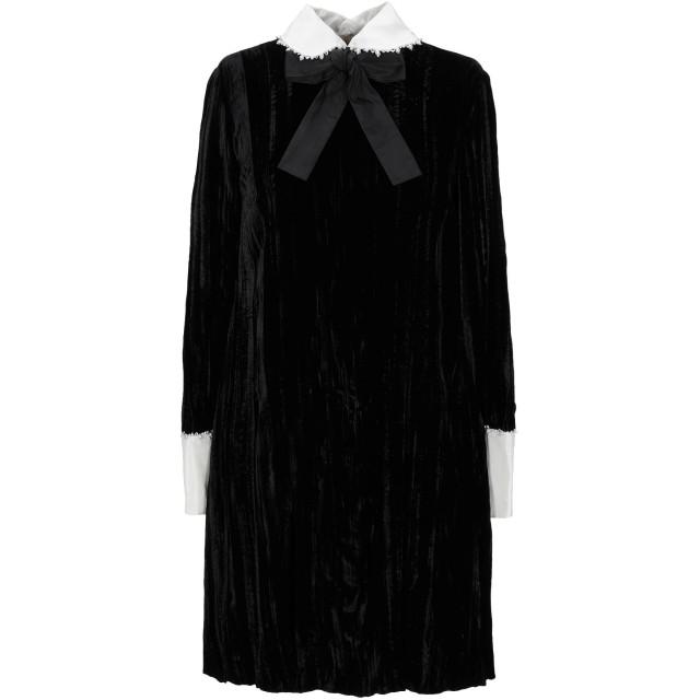 《期間限定セール開催中!》MIU MIU レディース ミニワンピース&ドレス ブラック 40 レーヨン 82% / シルク 18% / ガラス