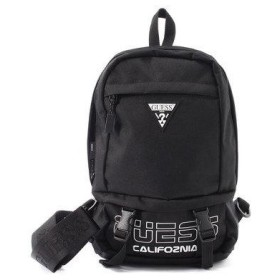 ゲス GUESS LOGO SLING BAG (BLACK)