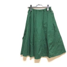 【中古】 パラスパレス Pallas Palace ロングスカート サイズ0 XS レディース グリーン ストライプ