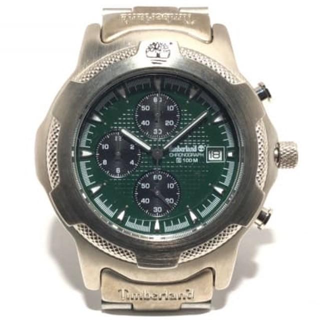 d9b7c62039 【中古】 ティンバーランド Timberland 腕時計 美品 - メンズ クロノグラフ グリーン