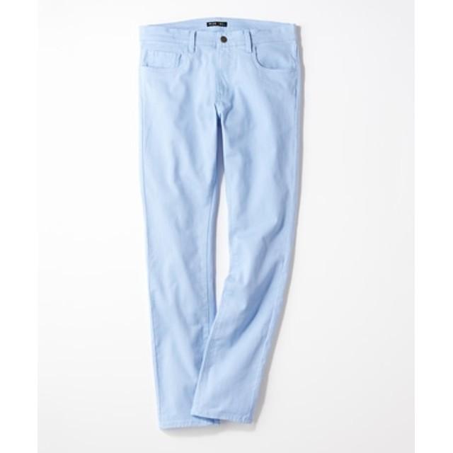 PLUS ONE 【WEB限定】24色スキニーパンツ メンズ【店舗裾上げ不可】 サックス