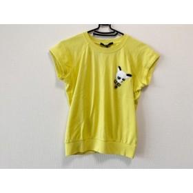 【中古】 グッチ GUCCI 半袖Tシャツ サイズS レディース ブランド イエロー