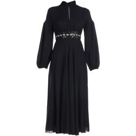 《セール開催中》GIAMBATTISTA VALLI レディース ロングワンピース&ドレス ブラック 40 バージンウール 85% / ナイロン 15% / ポリウレタン