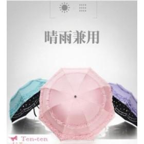レディース 折りたたみ傘 UVカット 丈夫 晴雨兼用 雨傘 折り畳み傘 紫外線防止 濡れると花柄が現れる 軽量 日傘 遮光