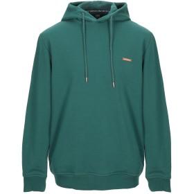 《期間限定セール開催中!》LOVE MOSCHINO メンズ スウェットシャツ ダークグリーン XS コットン 100% / ポリウレタン