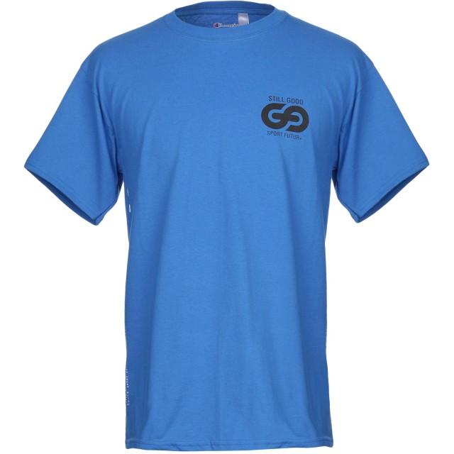 《期間限定セール開催中!》CHAMPION メンズ T シャツ ブルー S コットン 100%