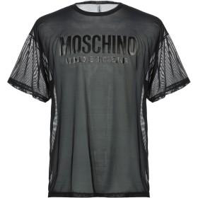 《9/20まで! 限定セール開催中》MOSCHINO メンズ アンダーTシャツ ブラック XS ナイロン 92% / ポリウレタン 8%