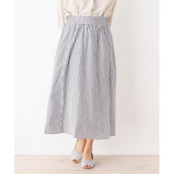 3can4on(Ladies)(サンカンシオン(レディース)) パネルストライプスカート
