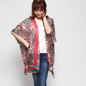 デシグアル Desigual スカーフ (ピンク/レッド)