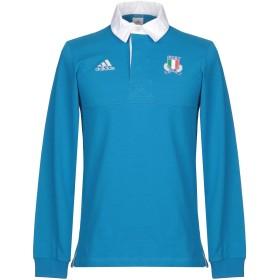《期間限定セール中》ADIDAS メンズ ポロシャツ アジュールブルー S コットン 100%