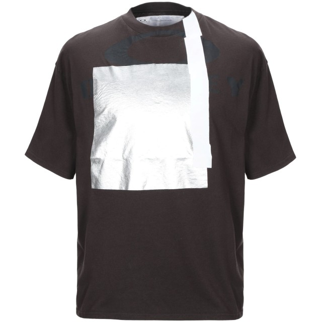 《期間限定セール開催中!》OAKLEY メンズ T シャツ ダークブラウン XS コットン 100%