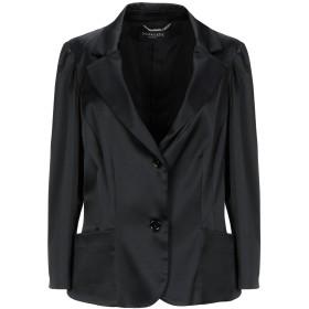《期間限定 セール開催中》CHIARA D'ESTE レディース テーラードジャケット ブラック 48 アセテート 75% / ナイロン 22% / ポリウレタン 3%