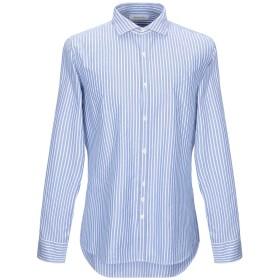 《セール開催中》AGLINI メンズ シャツ スカイブルー 44 コットン 100%