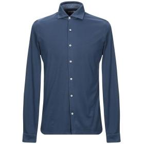 《期間限定セール開催中!》DELLA CIANA メンズ シャツ ダークブルー 54 コットン 100%
