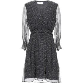 《セール開催中》BA & SH レディース ミニワンピース&ドレス ブラック 2 シルク 100% / ナイロン / レーヨン