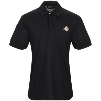 《期間限定セール開催中!》FAUSTO PUGLISI メンズ ポロシャツ ブラック S コットン 100%