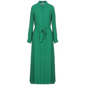 《セール開催中》SOUVENIR レディース 7分丈ワンピース・ドレス エメラルドグリーン S ポリエステル 100%