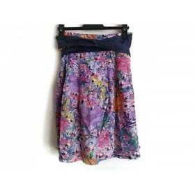 【中古】 セオリー theory スカート サイズXO XL レディース ピンク パープル マルチ 花柄