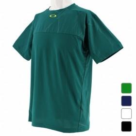オークリー メンズ テニス 半袖Tシャツ Enhance Slant Graphic Crew 9.0 457722 OAKLEY