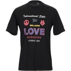 《期間限定 セール開催中》LOVE MOSCHINO メンズ T シャツ ブラック S コットン 100% / ポリウレタン