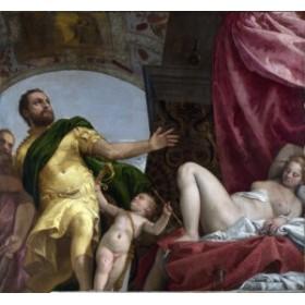 絵画風 壁紙ポスター パオロ・ヴェロネーゼ 愛の寓意-尊重 1575年頃 ナショナル・ギャラリー(ロンドン) K-VRN-013S1 (643mm×594mm)