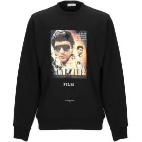 《期間限定セール開催中!》IH NOM UH NIT メンズ スウェットシャツ ブラック S コットン 100% / ポリウレタン