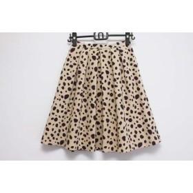 【中古】 アプワイザーリッシェ Apuweiser-riche スカート サイズ1 S レディース ベージュ 黒 パープル