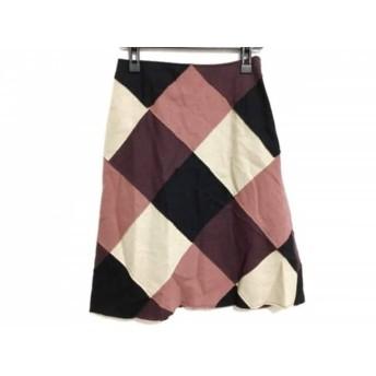 【中古】 ホコモモラ JOCOMOMOLA スカート サイズ42 L レディース アイボリー ピンク マルチ