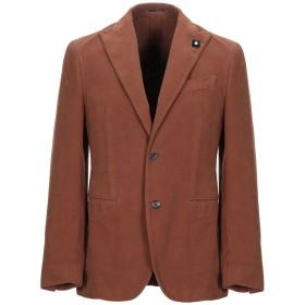 《期間限定セール開催中!》LARDINI メンズ テーラードジャケット ブラウン 46 コットン 100%