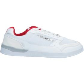 《期間限定 セール開催中》PLEIN SPORT メンズ スニーカー&テニスシューズ(ローカット) ホワイト 40 紡績繊維 / ゴム