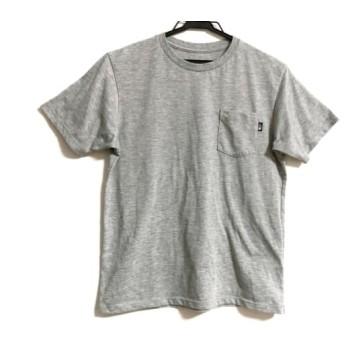 【中古】 ノースフェイス THE NORTH FACE 半袖Tシャツ サイズS メンズ ライトグレー