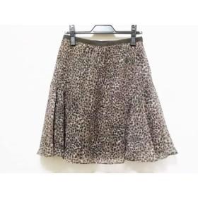 【中古】 ドゥーズィエム スカート サイズ38 M レディース ダークブラウン ベージュ 黒 豹柄