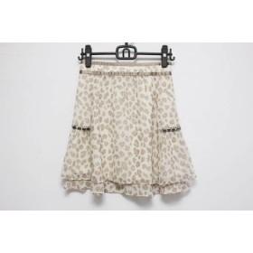 【中古】 アプワイザーリッシェ スカート サイズ2 M レディース ベージュ ライトブラウン ブラウン