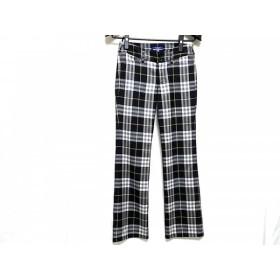 【中古】 バーバリーブルーレーベル パンツ サイズ36 S レディース 黒 アイボリー ベージュ グレー