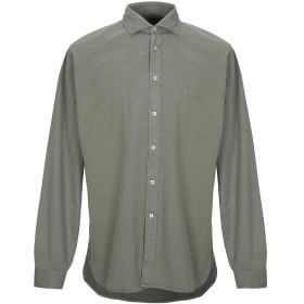 《セール開催中》XACUS メンズ シャツ ミリタリーグリーン XL コットン 100%