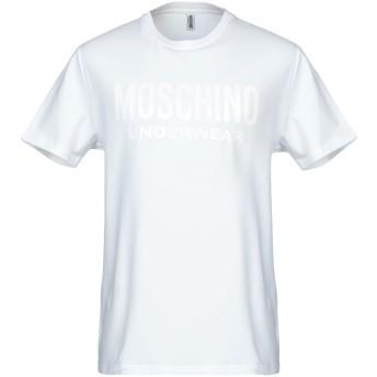 《9/20まで! 限定セール開催中》MOSCHINO メンズ アンダーTシャツ ホワイト XS コットン 98% / ポリウレタン 2%