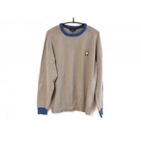 【中古】 パーリーゲイツ PEARLY GATES 長袖セーター サイズ5 XL メンズ グレー ブルー