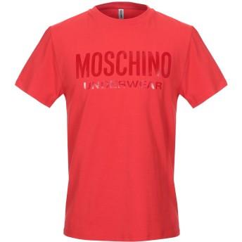 《9/20まで! 限定セール開催中》MOSCHINO メンズ アンダーTシャツ レッド XS コットン 98% / ポリウレタン 2%