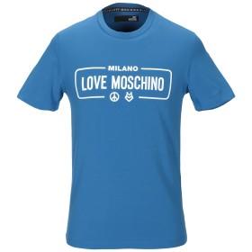 《期間限定セール開催中!》LOVE MOSCHINO メンズ T シャツ アジュールブルー S コットン 95% / ポリウレタン 5%
