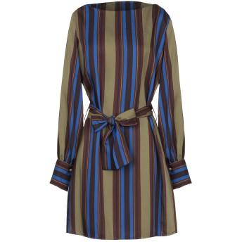 《セール開催中》SISTE' S レディース ミニワンピース&ドレス ミリタリーグリーン XS ポリエステル 100%