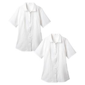 2枚組半袖ハマカラーシャツ(形態安定。抗菌防臭)(選べる2バスト) (大きいサイズレディース)ブラウス,plus size