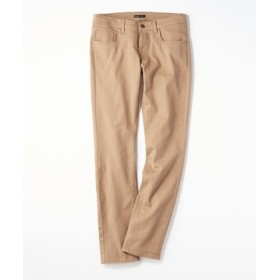 PLUS ONE 【WEB限定】24色スキニーパンツ メンズ【店舗裾上げ不可】 ダークベージュ