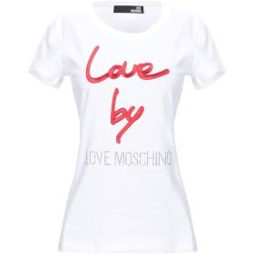 《期間限定 セール開催中》LOVE MOSCHINO レディース T シャツ ホワイト 40 コットン 93% / ポリウレタン 7%
