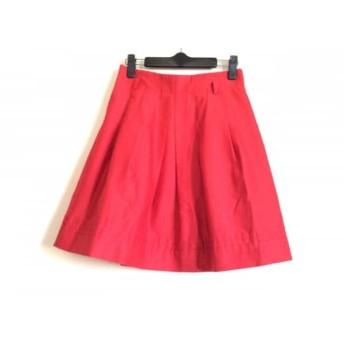 【中古】 ナラカミーチェ NARACAMICIE スカート サイズ0 XS レディース 美品 レッド