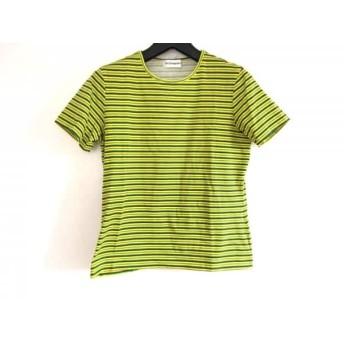【中古】 イヴサンローラン YvesSaintLaurent 半袖Tシャツ レディース イエロー ダークブラウン マルチ