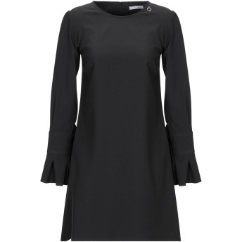 《期間限定セール開催中!》RELISH レディース ミニワンピース&ドレス ブラック 38 ポリエステル 80% / レーヨン 17% / ポリウレタン 3%