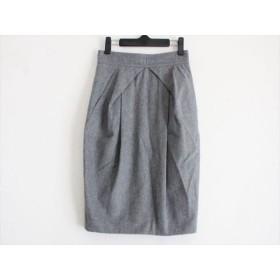 【中古】 ポールカ PAULEKA スカート サイズ38 M レディース グレー