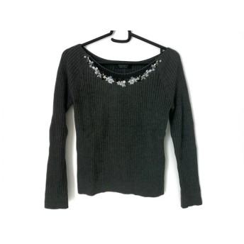 【中古】 ジャスグリッティー JUSGLITTY 長袖セーター サイズ2 M レディース グレー 刺繍